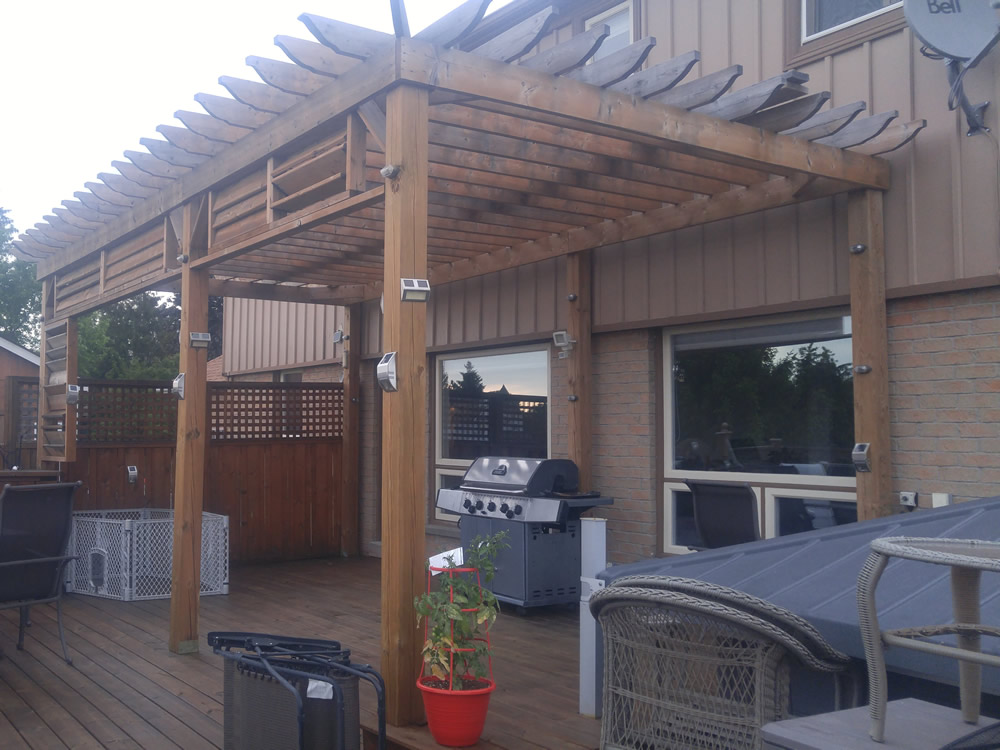 Pagoda installed by Handiman4you.com, Durham Region Ontario, Pickering, Ajax, Whitby, Oshawa